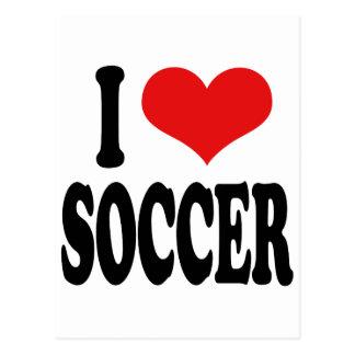 Amo fútbol tarjetas postales