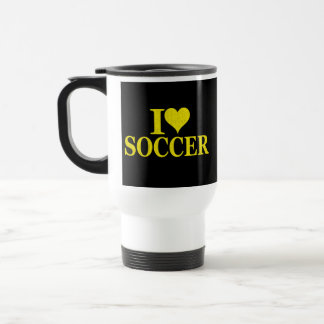 Amo fútbol taza de viaje de acero inoxidable