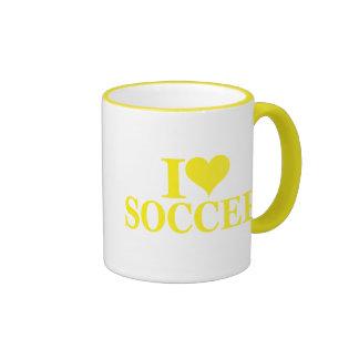 Amo fútbol taza a dos colores