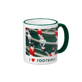 Amo fútbol taza de dos colores