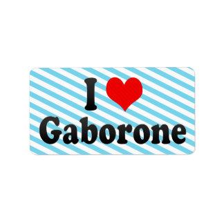 Amo Gaborone, Botswana Etiquetas De Dirección
