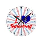 Amo Galesburg, Michigan Relojes De Pared