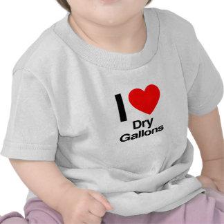 amo galones secos camisetas