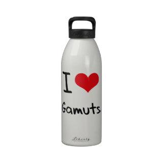 Amo gamas botellas de agua reutilizables