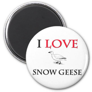 Amo gansos de nieve iman