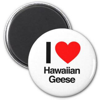 amo gansos hawaianos imán para frigorifico