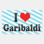 Amo Garibaldi, el Brasil Pegatina Rectangular