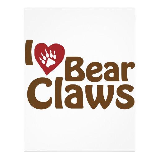 amo garras de oso tarjeta publicitaria