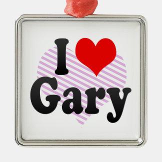 Amo Gary Adorno Navideño Cuadrado De Metal
