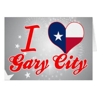 Amo Gary+Ciudad, Tejas Tarjeta De Felicitación