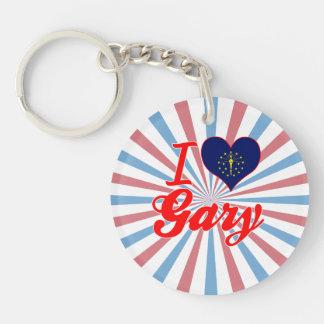 Amo Gary, Indiana Llavero Redondo Acrílico A Una Cara