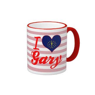 Amo Gary, Indiana Taza A Dos Colores