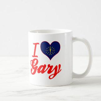 Amo Gary, Indiana Taza Básica Blanca