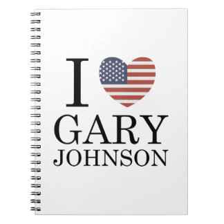Amo Gary Johnson Spiral Notebook