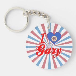 Amo Gary, Minnesota Llavero Redondo Acrílico A Una Cara