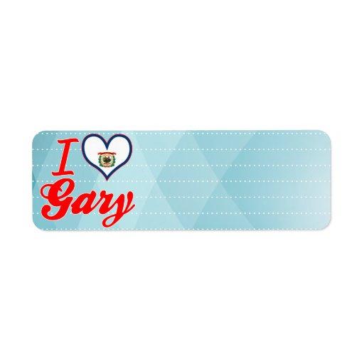 Amo Gary, Virginia Occidental Etiquetas De Remite