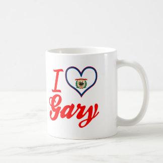 Amo Gary, Virginia Occidental Taza Básica Blanca