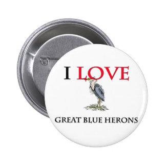 Amo garzas de gran azul pins