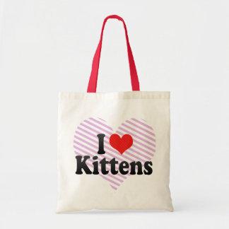 Amo gatitos bolsa tela barata
