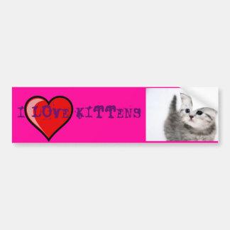 amo gatitos pegatina para auto