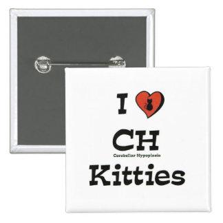Amo gatitos del CH Pin Cuadrado
