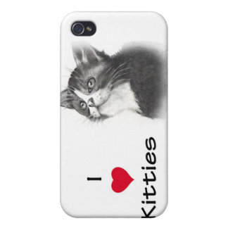 Amo gatitos (del corazón) iPhone 4/4S fundas