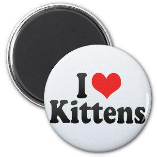 Amo gatitos imán redondo 5 cm