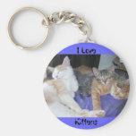 Amo gatitos llavero personalizado