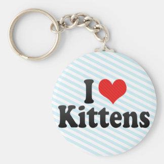Amo gatitos llavero redondo tipo pin