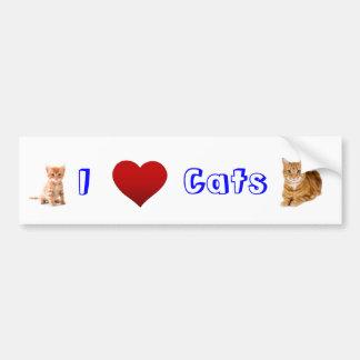 amo gatos (2) pegatina para auto