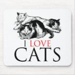 Amo gatos alfombrillas de ratón