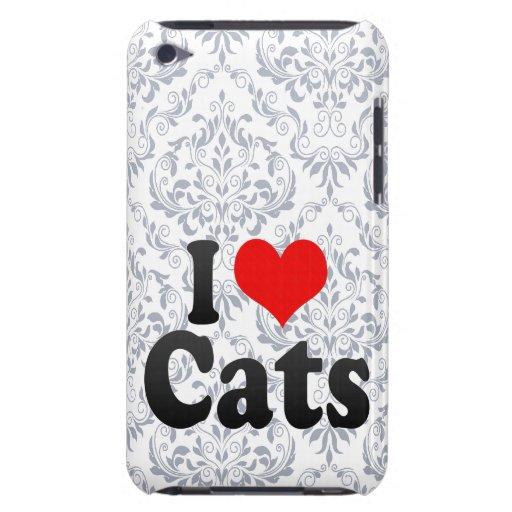 Amo gatos barely there iPod carcasa