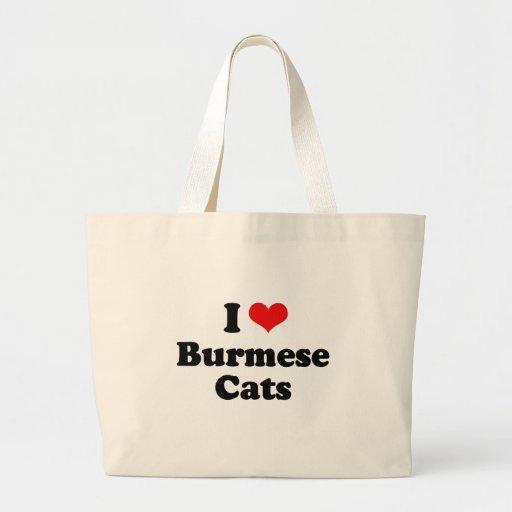Amo gatos birmanos bolsa