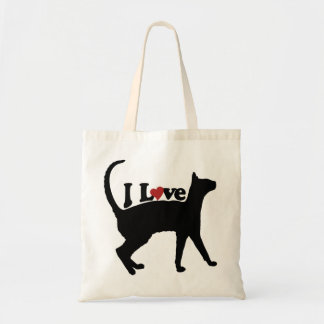 Amo gatos bolsa tela barata