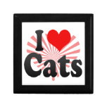 Amo gatos caja de recuerdo