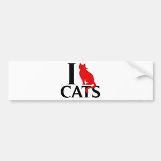 Amo gatos pegatina para auto