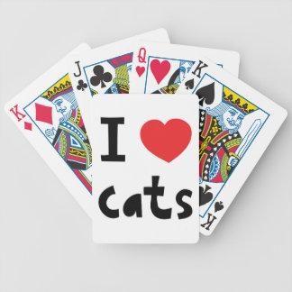 Amo gatos baraja de cartas