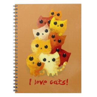 Amo gatos libros de apuntes