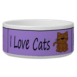Amo gatos bol para perro