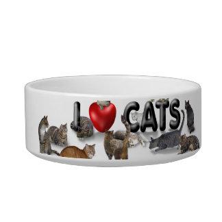 Amo gatos tazón para comida gato