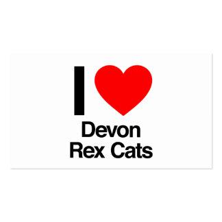amo gatos del rex de Devon Tarjetas De Visita