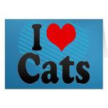 Amo gatos felicitaciones