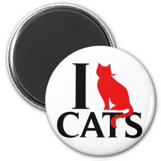 Amo gatos imán de nevera