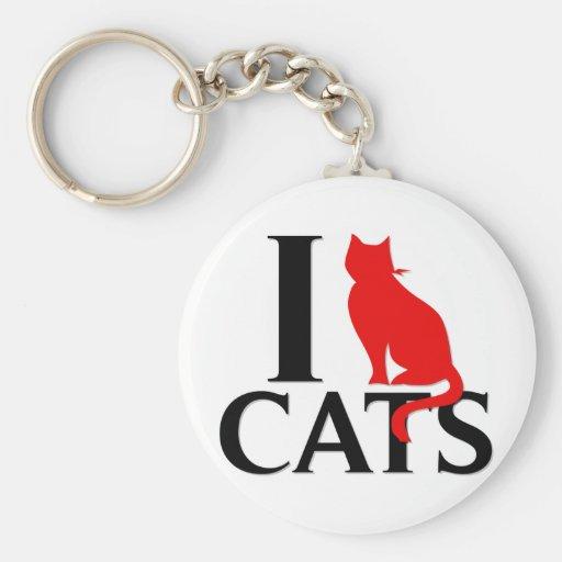 Amo gatos llavero redondo tipo pin