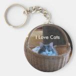 Amo gatos llaveros personalizados