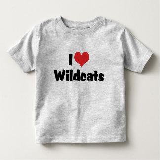 Amo gatos monteses del corazón playera de bebé