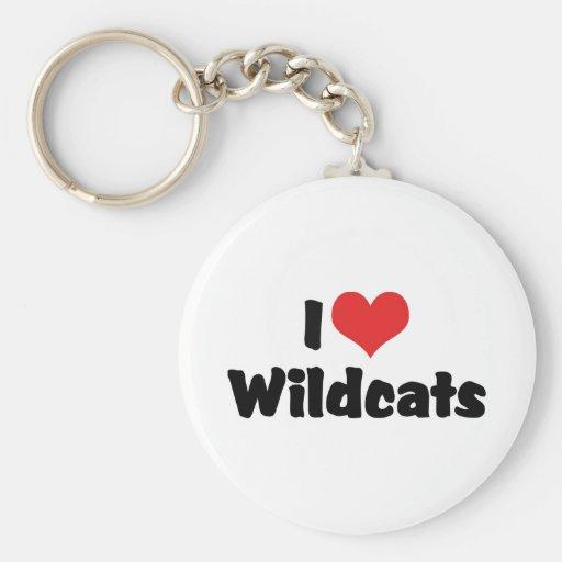 Amo gatos monteses llaveros personalizados