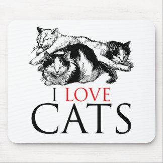 Amo gatos mouse pads