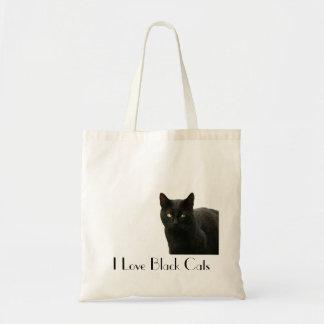 Amo gatos negros bolsa tela barata