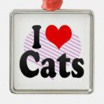 Amo gatos ornamente de reyes